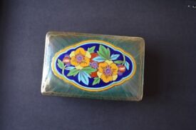 Beautiful vintage Mintons lustreware box with lid