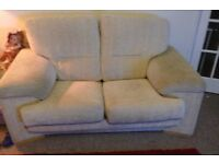 2x. 2 seater sofas and pouffee