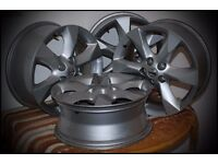 "Four 18"" Nissan alloys,"