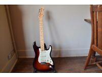 2016 Fender American Elite Stratocaster, Aged Cherry Sunburst, Maple Neck.