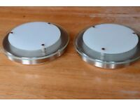 Pair of repro vintage art-deco style ceiling lights