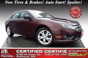 2012 Ford Fusion SE Certified! New Tires & Brakes! Auto Start! S