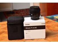 Sigma Art Series 30mm f1.4 DC HSM **For Nikon**