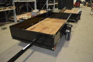 Brand New, Canadian Made, Folding Utility Trailer!! In Stock - Features Sides, Drive-up Ramp, Enclosed Tarp
