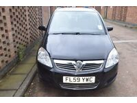 Vauxhall Zafira Active , new alloy wheels.tinted glass. motor tested02.08MPV petrol1.6.economical.