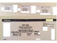 UFC 205 Tickets 3 seats & 1 seat Lower Tier Bisping Henderson Manchester NEXT WEEK!!