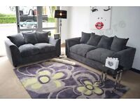 Dylan Sofa Range in 3+2 and Corners with Stools and Swivel Chairs in Grey, Caramel, or Brown+Beige