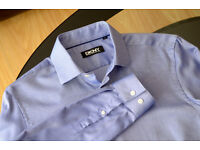 "Donna Karan New York Blue Shirt S(15"") tailored fit. Used once. Neck 38cm/15"" Chest 95cm/37.5"""
