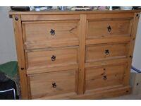 Corona Pine chest of drawers