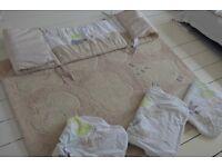 Verbadeut nursery bundle. Rug, 3 sleeping bags cot bumper