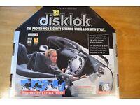 DISKLOK Titanium Silver Steering Wheel Lock (Large)