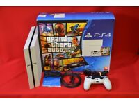Sony PlayStation 4 Glacier White 500GB with Grand Theft Auto V £225