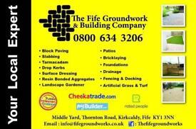 The Fife Groundwork & Building Company. Monoblock, Driveways, Landscaping, Tarmac, Dropkerbs