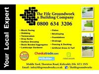 The Fife Groundwork & Building Company. Monoblock, Driveways, Landscaping, Tarmac, Dropkerbs