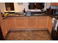 Kitchen units, Carron Phoenix sink and tap (Used)