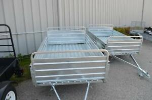 New 5x7 Galvanized Mighty Multi Utility Trailer!  Galvanized or Steel  5x7 and 4x6 Steel Utility Trailers Available!