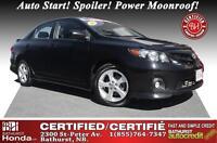 2012 Toyota Corolla S Certified! No Accident! Auto Start! Spoile