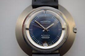 Nivada Ultramatic 36000 Hi Beat automatic mechanical wristwatch - NOS Circa '75 - Signed Winegartens