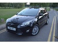 FORD FOCUS 2014 1.0 EcoBoost ZETEC NAVIGATOR TURBO,NEWLY FORD SERVICED,BLACK,ALLOYS,PETROL,SATNAV