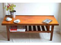 Vintage Myer Danish style teak slatted coffee table. Delivery. Retro / Modern / midcentury style.