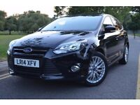 2014 FORD FOCUS1.0 EcoBoost ZETEC NAVIGATOR TURBO,MANUAL,PETROL,BLACK,3M GOLD WARRNTY,SAT NAV,FSH