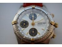 Gent's automatic chronograph wristwatch - Swiss made - Breitling homage - Mappin & Webb - 1990s