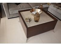 Show flat ex-display Coffee table -leather top