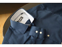 "Donna Karan New York Navy Shirt S(15"") tailored fit. Used once. Neck 38cm/15"" Chest 95cm/37.5"""