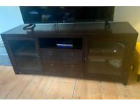 TV Unit - side board. Solid dark wood from pottery barn