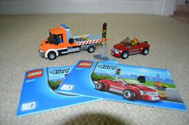Lego 60017 City Flatbed Truck Car Transporter