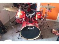 Pearl Forum Drum Kit, With Extras