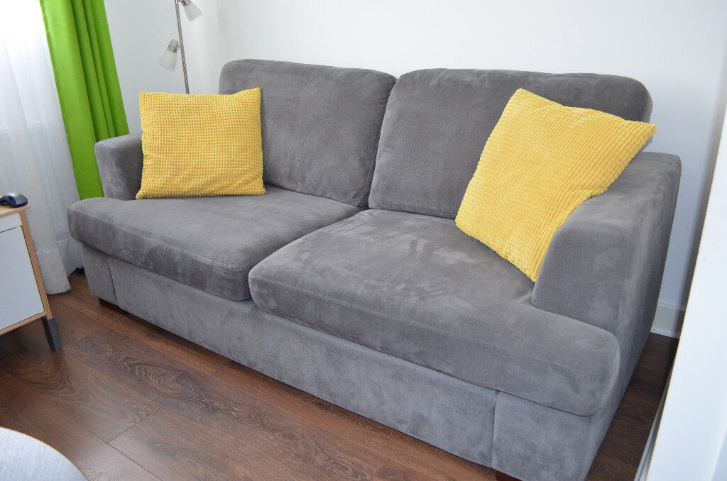 Outstanding Freya From Dfs 3 Seater Delux Sofa Bed Armchair And Large Storage Footstool In Dunstable Bedfordshire Gumtree Machost Co Dining Chair Design Ideas Machostcouk