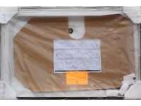 NEW SHOWER TRAY 120X76CM WHITE CORAM WATERGUARD 3 UPSTAND AND FITTINGS, PACKAGED, CAN DELIVER