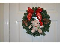Xmas Teddy Bear Wreaths