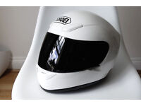 Shoei White Crash Helmet XR1000 Small | Clear & Black Visors + Headset | XR 1000 Motorbike Full Face