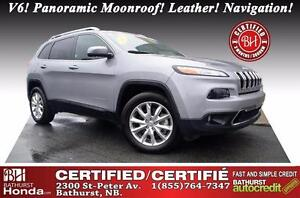 2015 Jeep Cherokee Limited Certified! 4X4! Limited PKG! V6! Pano