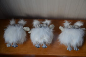 x3 Adorable Fluffy White Snowy Owls (NEW)
