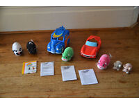 x3 Zhu Zhu Pet Hamsters w/ x2 Car Accessories and x2 Baby Hamsters