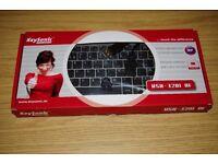 Keysonic Super-Mini Slim Wireless Media HTPC Keyboard with Trackball Mouse