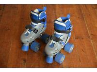 SFR Storm Adjustable Quad Roller Skates - Blue and Grey - Infant UK Size 8-11