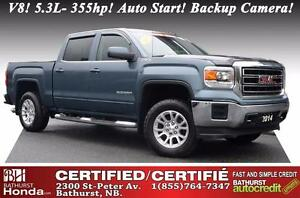 2014 GMC Sierra 1500 SLE V8! 5.3L- 355hp! Auto Start! Backup Cam