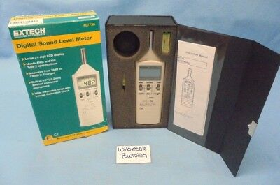 Extech 407736 Digital Sound Level Meter 35 - 130db 31.5hz - 8khz -1.5 Db