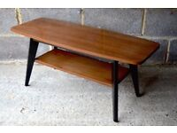 Stylish Vintage Danish style two tier bicolour coffee table. Delivery. Modern / midcentury.