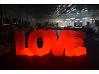 GIANT LOVE LETERS FOR WEDDINGS