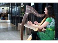 Piano/ Harp lessons by harpist/pianist, Katy Graham. Also available for weddings and events.