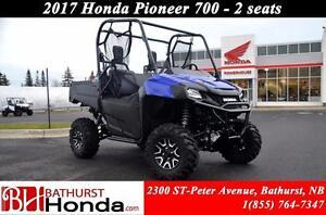 2017 Honda Pioneer 700 Deluxe - 2 Seats Mag Wheels! 2 Seats! Pow
