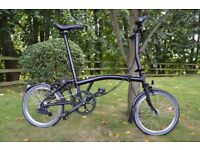 Brompton Folding Bicycle 6-Speed Black Edition 2015 (Only 5,000 made)