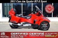 2011 Can-Am Spyder RT-S Sport Bathurst Honda Certified! Touring