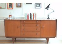 Fantastic vintage A. Younger Afromosia and teak sideboard. Delivery. Midcentury / Danish style.