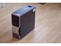 DELL PRECISION 490 / 8 CORE / 16GB RAM / QUANDRO FX580 / 750W / NEEDS HARD DRIVE
